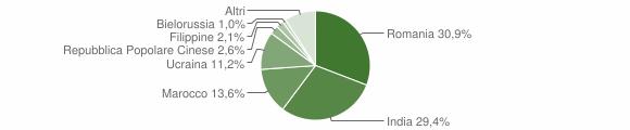 Grafico cittadinanza stranieri - Locri 2016