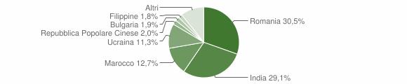 Grafico cittadinanza stranieri - Locri 2019