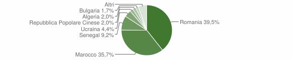 Grafico cittadinanza stranieri - Mileto 2013