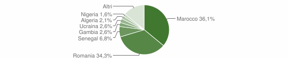 Grafico cittadinanza stranieri - Mileto 2019