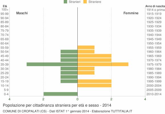 Grafico cittadini stranieri - Cropalati 2014