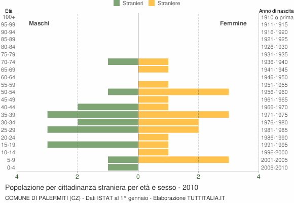 Grafico cittadini stranieri - Palermiti 2010