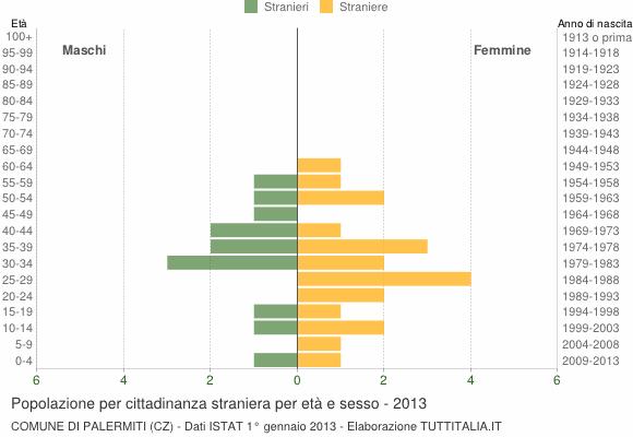 Grafico cittadini stranieri - Palermiti 2013