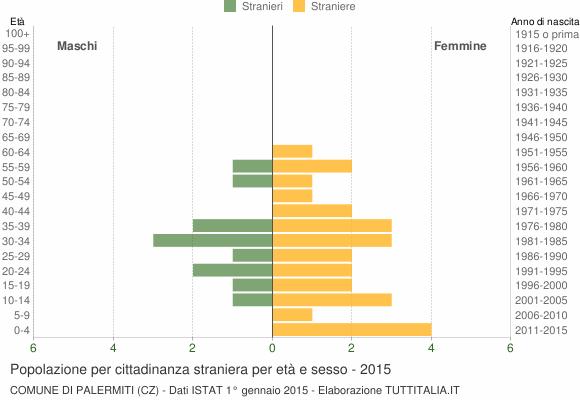 Grafico cittadini stranieri - Palermiti 2015