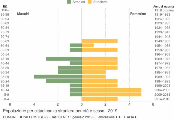 Grafico cittadini stranieri - Palermiti 2019