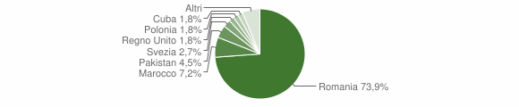 Grafico cittadinanza stranieri - San Nicola Arcella 2013