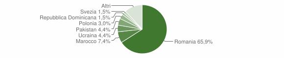 Grafico cittadinanza stranieri - San Nicola Arcella 2019