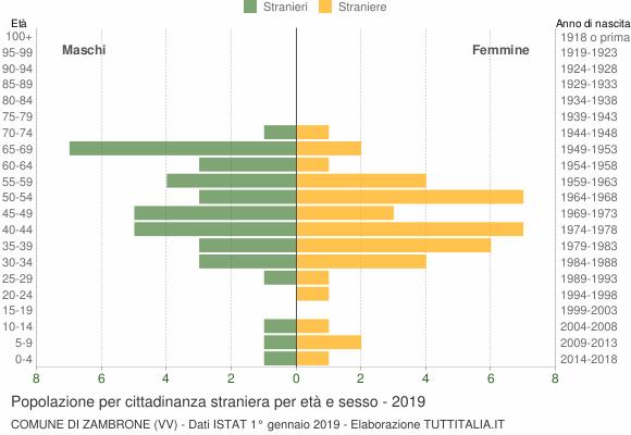 Grafico cittadini stranieri - Zambrone 2019