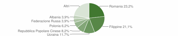 Grafico cittadinanza stranieri - Cosenza 2011