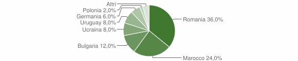 Grafico cittadinanza stranieri - Spilinga 2009