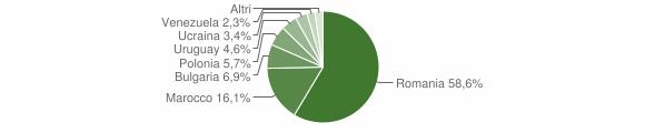 Grafico cittadinanza stranieri - Spilinga 2013