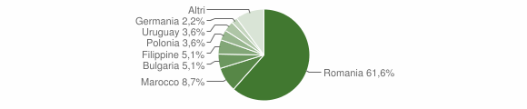 Grafico cittadinanza stranieri - Spilinga 2018