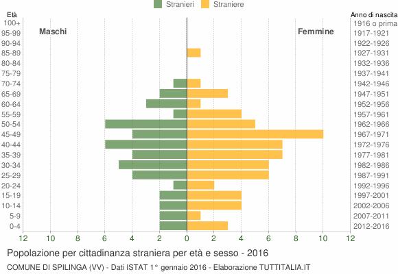 Grafico cittadini stranieri - Spilinga 2016