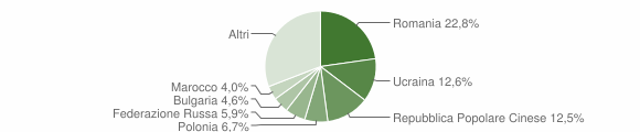Grafico cittadinanza stranieri - Crotone 2013
