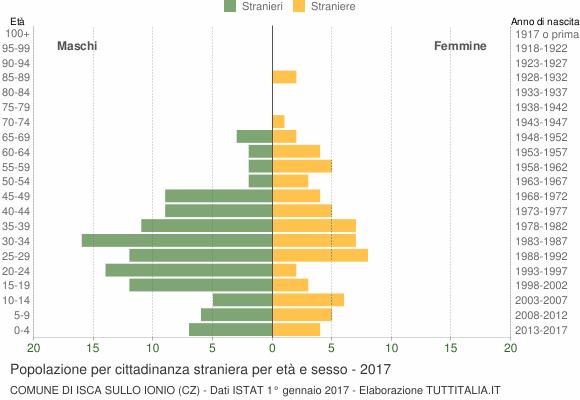 Grafico cittadini stranieri - Isca sullo Ionio 2017
