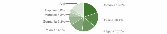 Grafico cittadinanza stranieri - Ricadi 2009