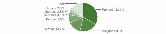 Grafico cittadinanza stranieri - Ricadi 2019