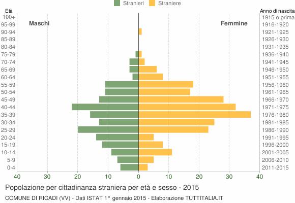 Grafico cittadini stranieri - Ricadi 2015