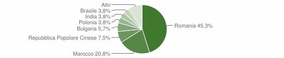 Grafico cittadinanza stranieri - Roccabernarda 2008