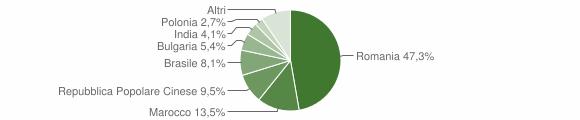 Grafico cittadinanza stranieri - Roccabernarda 2010