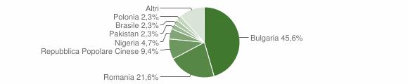 Grafico cittadinanza stranieri - Cinquefrondi 2018