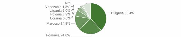 Grafico cittadinanza stranieri - Curinga 2011