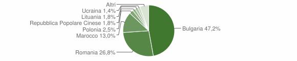 Grafico cittadinanza stranieri - Curinga 2013