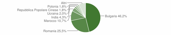 Grafico cittadinanza stranieri - Curinga 2016