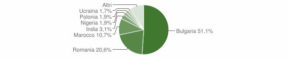 Grafico cittadinanza stranieri - Curinga 2018