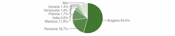 Grafico cittadinanza stranieri - Curinga 2019