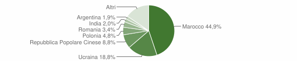 Grafico cittadinanza stranieri - Lamezia Terme 2007