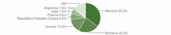 Grafico cittadinanza stranieri - Lamezia Terme 2008