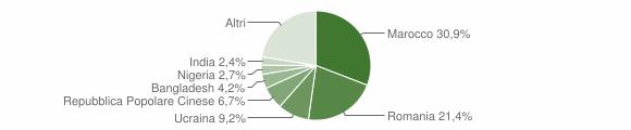 Grafico cittadinanza stranieri - Lamezia Terme 2019