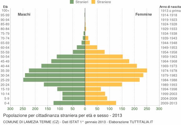 Grafico cittadini stranieri - Lamezia Terme 2013