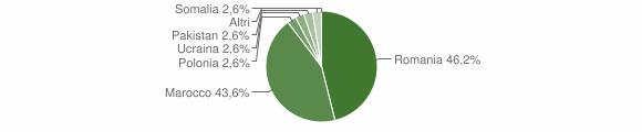 Grafico cittadinanza stranieri - Martirano 2013