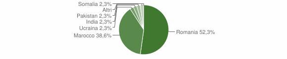Grafico cittadinanza stranieri - Martirano 2015