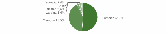Grafico cittadinanza stranieri - Martirano 2016