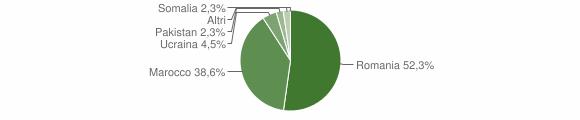 Grafico cittadinanza stranieri - Martirano 2017