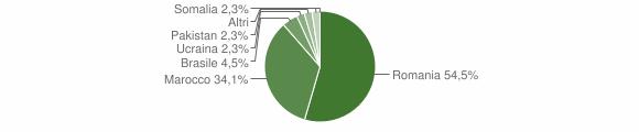Grafico cittadinanza stranieri - Martirano 2019