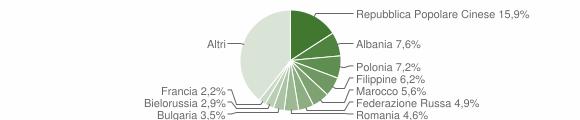 Grafico cittadinanza stranieri - Rende 2007