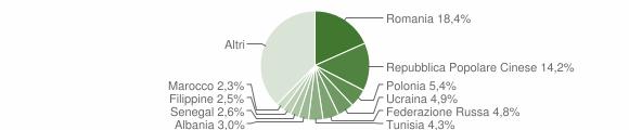 Grafico cittadinanza stranieri - Rende 2015
