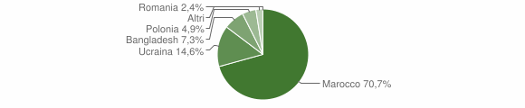 Grafico cittadinanza stranieri - Soriano Calabro 2004
