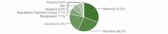 Grafico cittadinanza stranieri - Soriano Calabro 2006