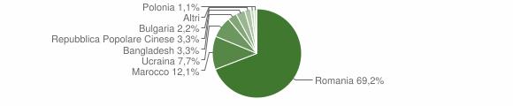 Grafico cittadinanza stranieri - Soriano Calabro 2009