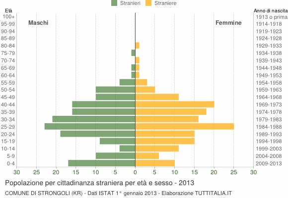 Grafico cittadini stranieri - Strongoli 2013