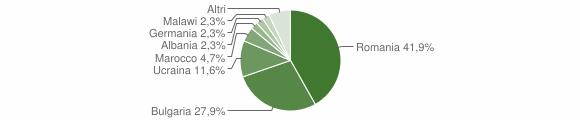 Grafico cittadinanza stranieri - Cirò 2016