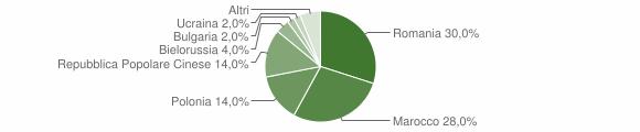Grafico cittadinanza stranieri - Marcellinara 2009