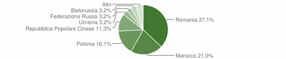 Grafico cittadinanza stranieri - Marcellinara 2010