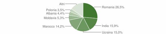 Grafico cittadinanza stranieri - Motta San Giovanni 2005