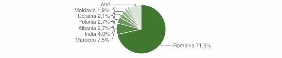 Grafico cittadinanza stranieri - Motta San Giovanni 2011